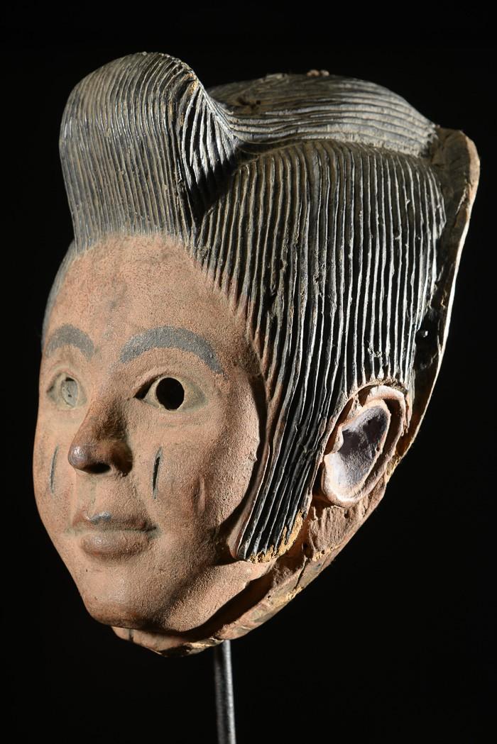 Masque polychrome Elvis Presley - Idoma - Nigeria
