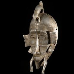 Masque Kpeliye en aluminium - Senoufo / Koulfo - Côte d'Ivoire