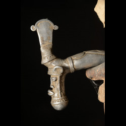 Zandé massue en fonte d'aluminium - Mossi - Burkina Faso