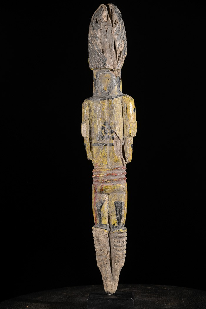 Statuette feminine polychrome Edjo - Urhobo - Nigeria