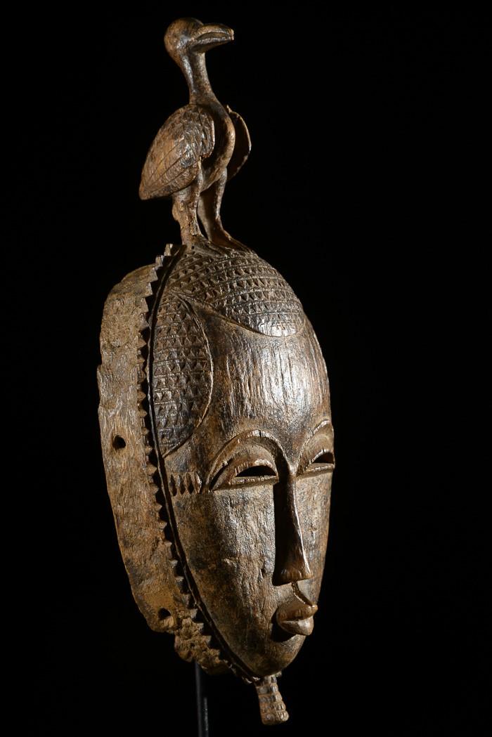 Masque de rejouissance Mblo - Baoule - Côte d'Ivoire