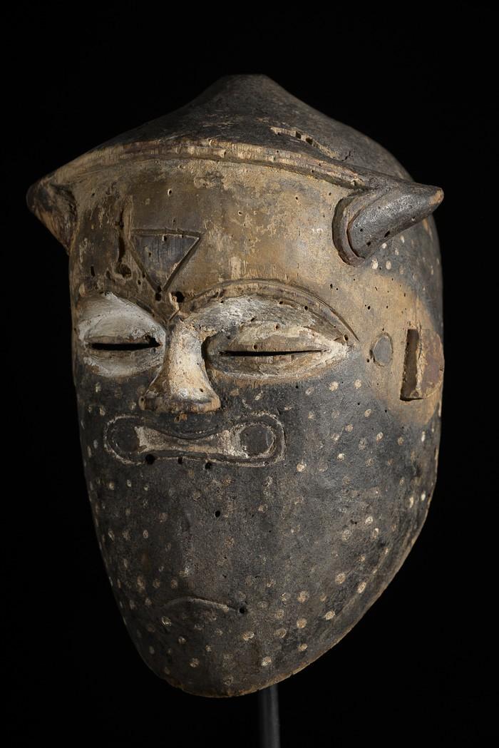 Masque casque polychrome - Kuba / Biombo  - RDC Zaire