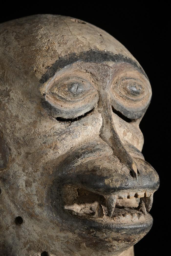 Masque zoomorphe Babouin - Luba - RDC Zaire