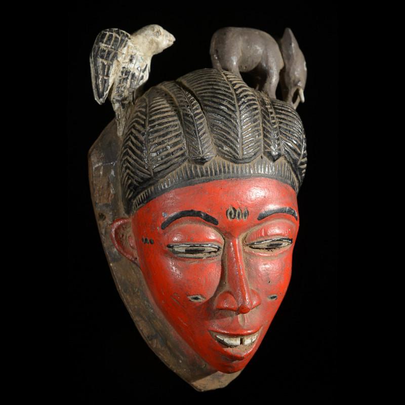 Masque Seli rouge - Gouro - Côte d'Ivoire