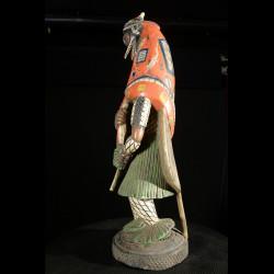 Statue Masque Zamble - Gouro - Côte d'Ivoire