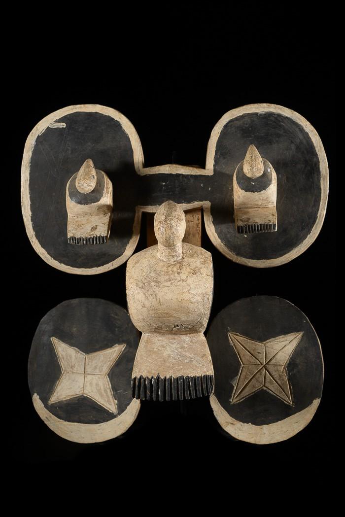Masque de dos zoomorphe - Bidjogo - Guinée Bissau