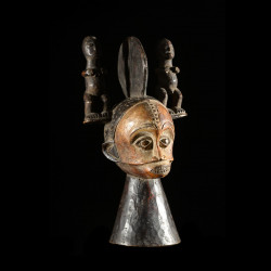 Masque Cimier Conique - Igbo / Ibo - Nigeria