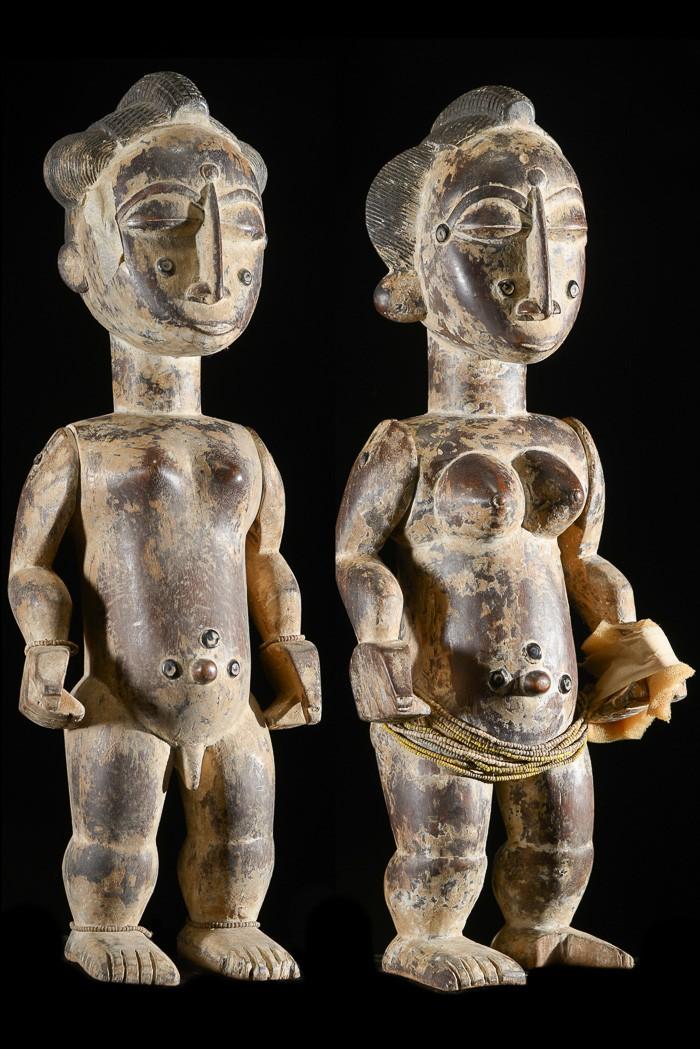 Couple d'ancêtres - Attie - Côte d'Ivoire