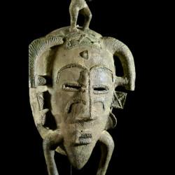 Masque Kpeliye en bronze - Senoufo / Koulfo - Côte d'Ivoire