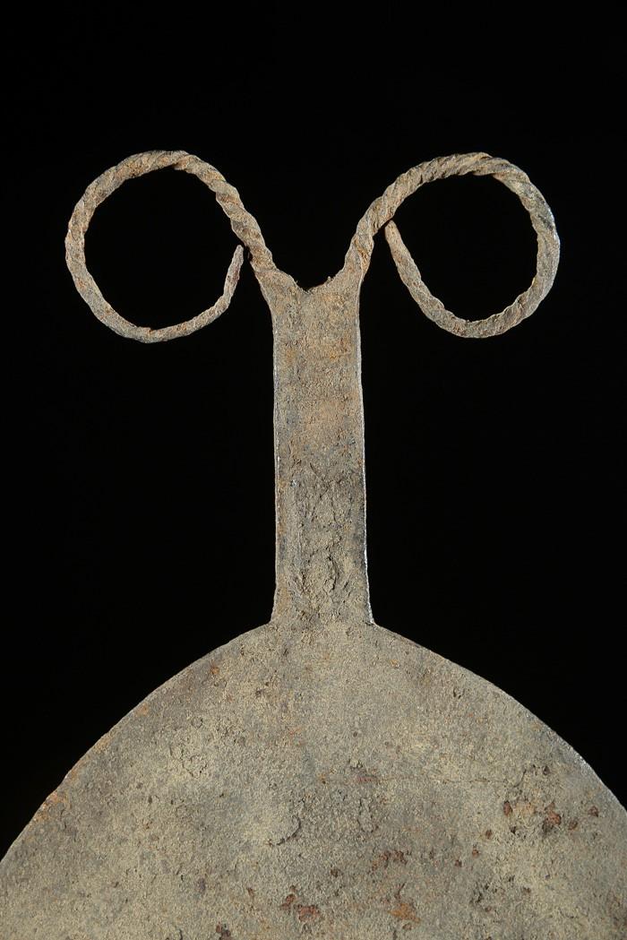 Monnaie primitive en fer noir - Bongo - Soudan