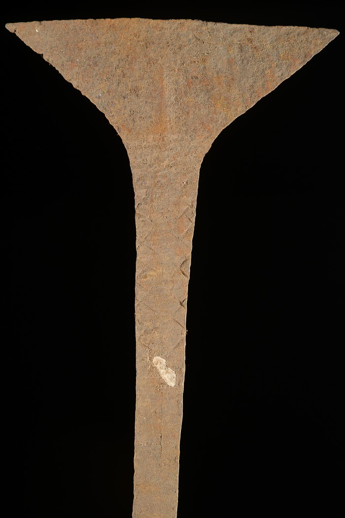 Monnaie primitive en fer noir - Idoma - Nigeria