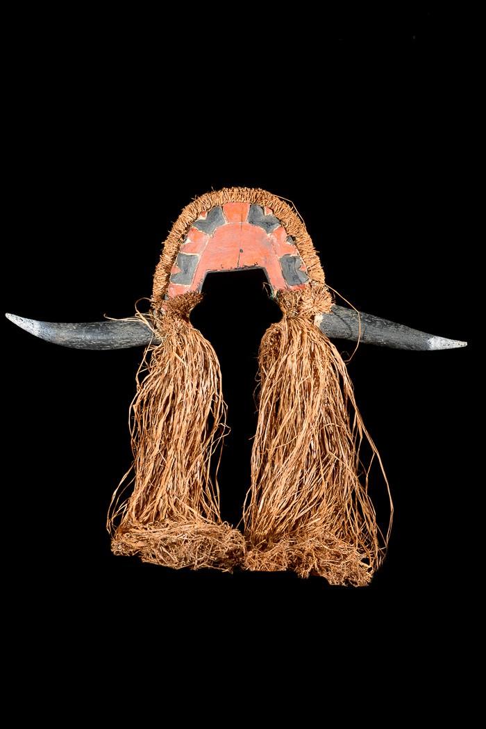 Casque cimier polychrome Buffle - Bidjogo - Guinée Bissau