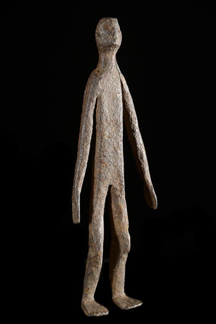 Figure rituelle en fer noir - Konkomba - Togo / Ghana