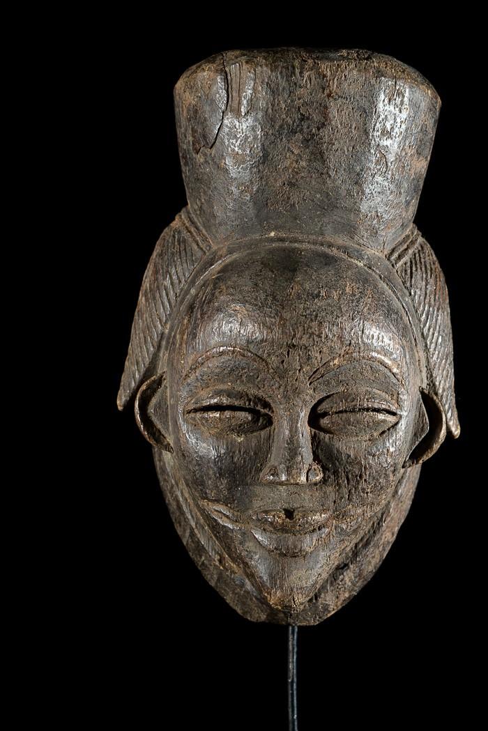 Masque noir de justice Ikwara - Pounou / Tsangui - Gabon