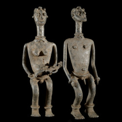 Couple fetiche d'autel - Ethnie Pougouli / Lobi - Burkina