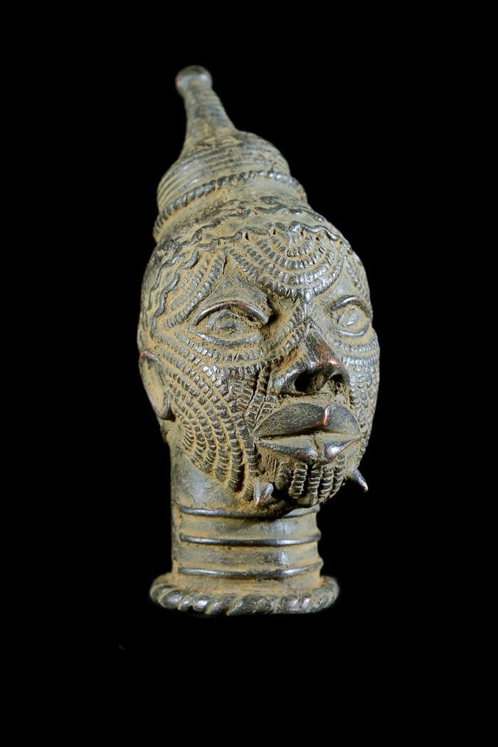 Tête en bronze - Lulua / Luluwa - RDC Zaire