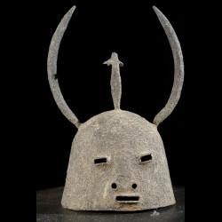 Casque en fer noir - Dogon - Mali