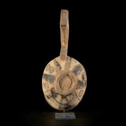 Grande cuillère en bois polychrome - Bidjogo - Guinée Bissau