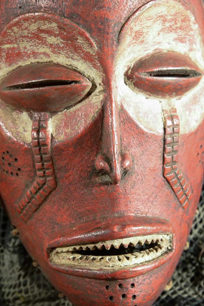Masque Mwana Pwo Rouge - Chokwe / Tschokwe - Angola
