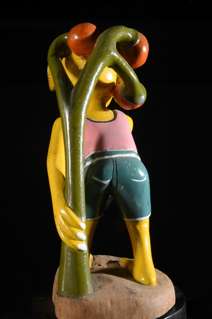 Sculpture Shetani Homme Jaune - George Lilanga - Makonde
