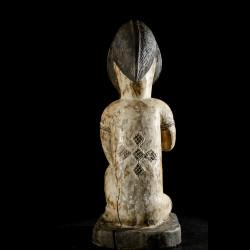 Statuette rituelle feminine - Punu / Pounou Lumbu - Gabon
