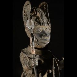 Oba et son cheval - Nigeria - BIni Edo - Bronze cire perdue