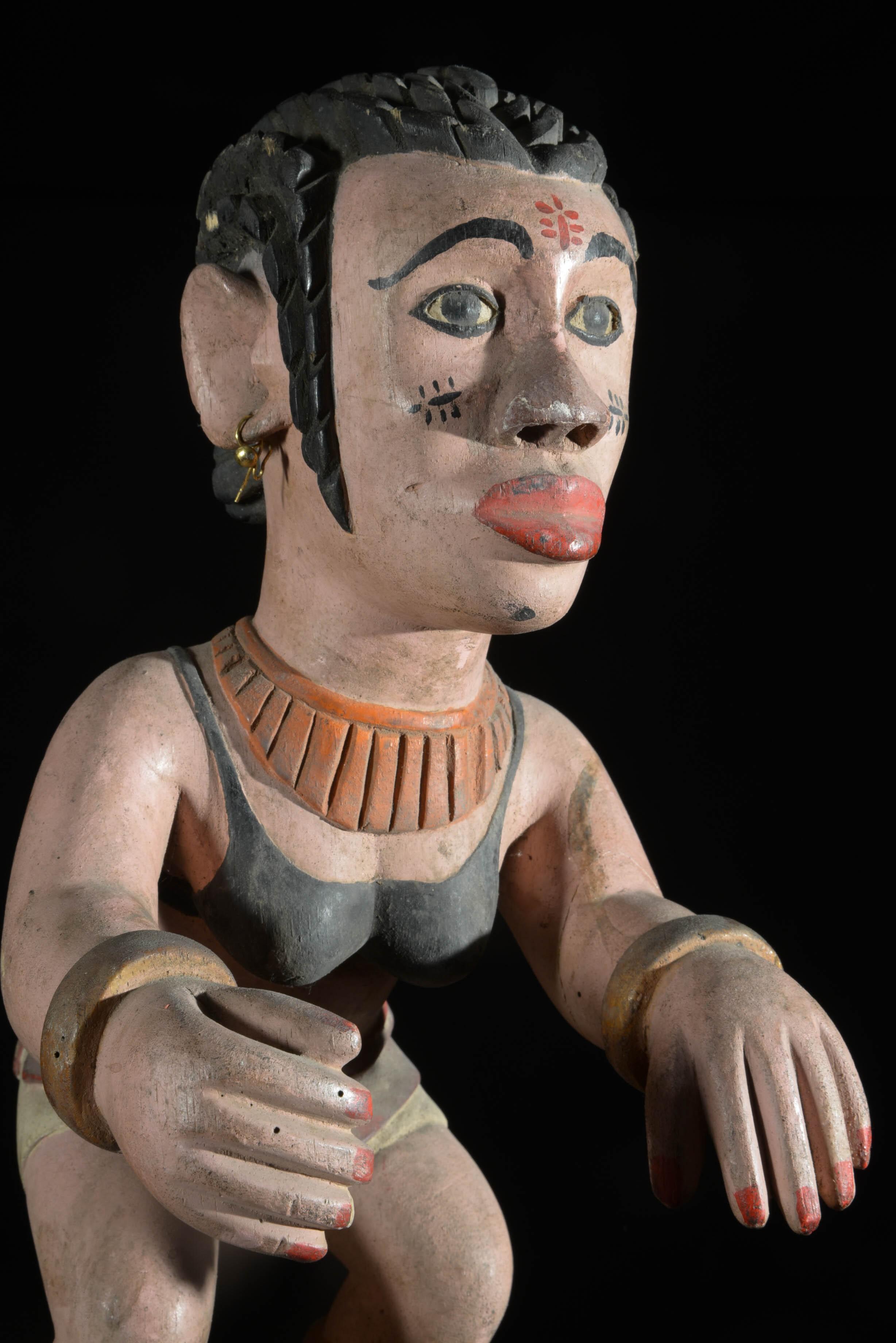 Statue polychrome - Ibibio - Nigeria
