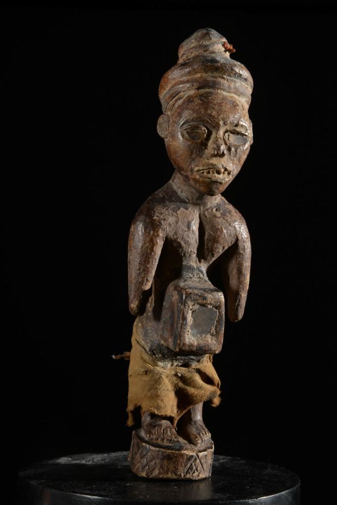 Fetiche Nkisi Nkonde Janiforme - Yombe - RDC Zaire - Nkisi Nkonde