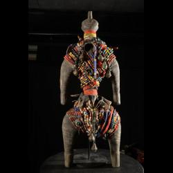 Poupee Namji Dowayo - Nigeria / Cameroun - Poupee perles africaines