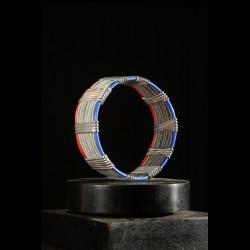 Petit Bracelet avec rivets en Bronze rouge - Akan - Ghana -