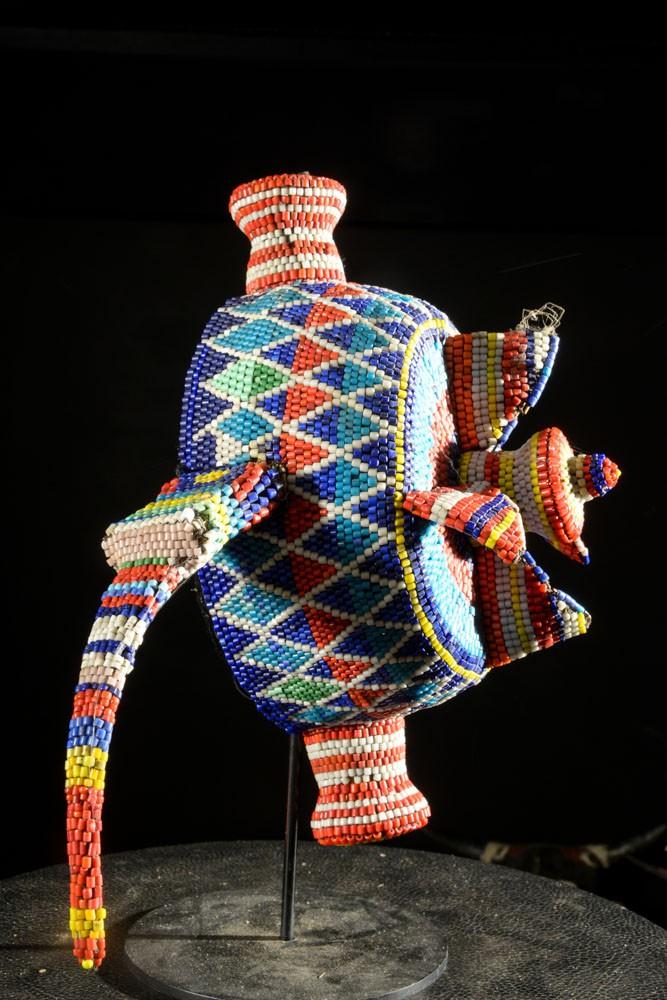 Coiffe perlée - Pende / Yaka / Suku - RDC Zaire