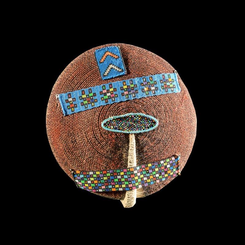 Coiffe Isicholo ancienne - Zoulou - Afrique du sud - Zulu