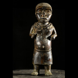 Nain de cour en bronze - Bini - Nigeria - Bronzes d'ife