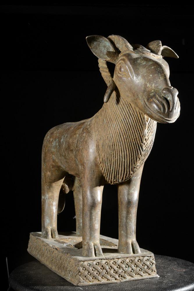 Belier Royal aquamanille - Bini Edo - Nigeria - Bronzes Benin