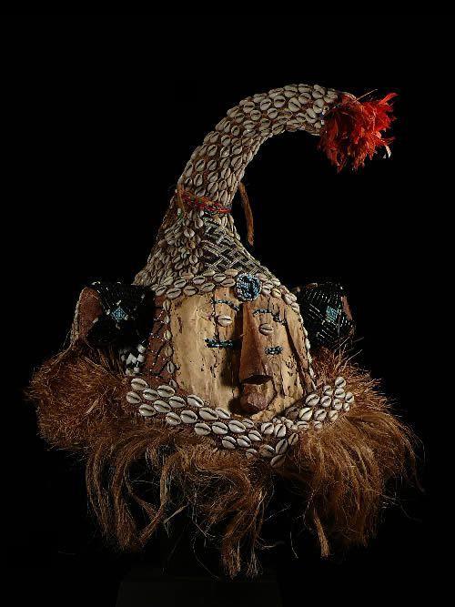 Masque Elephant Mukyeem / Mukenda - Kuba / Ngendee - RDC Zaire