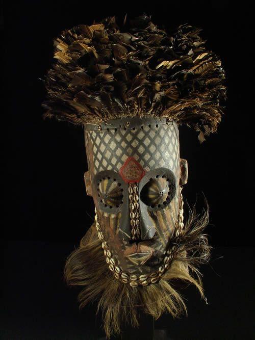 Masque Funeraire Inhuba - Kuba / Kete - RDC Zaire