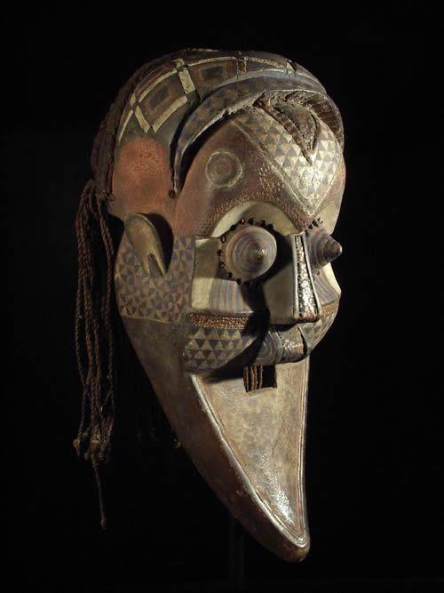 Masque Funeraire Inhuba Kabongo - Kuba / Kete - RDC Zaire
