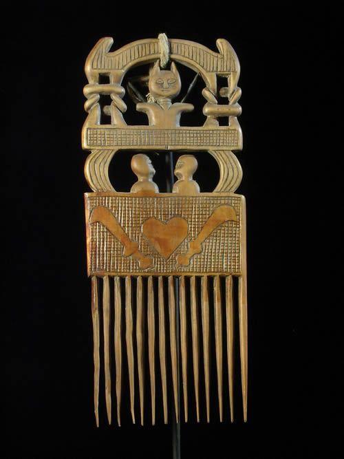 Peigne ancien - Ahanti - Ghana