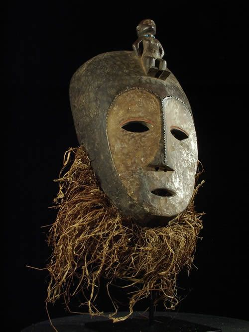 Masque ancien - Lega - RDC Zaire - Masques africains