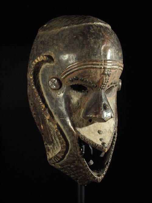 Masque ancien - Ngbaka - RDC Zaire / Soudan - Masques africains