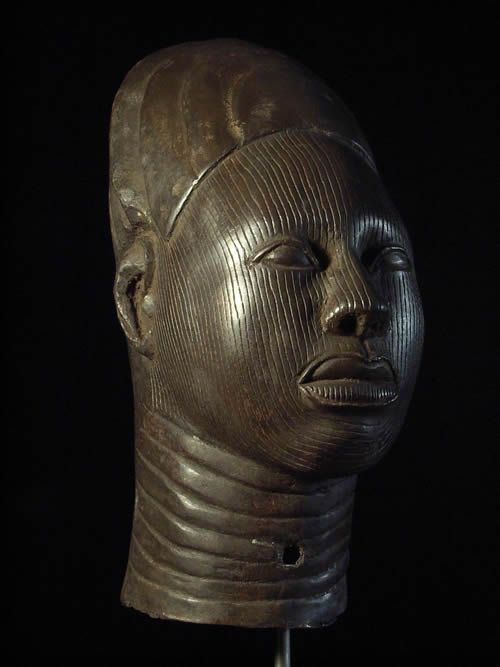 Tete d'Oba d'Ife - Nigeria - BIni Edo - Bronze cire perdue