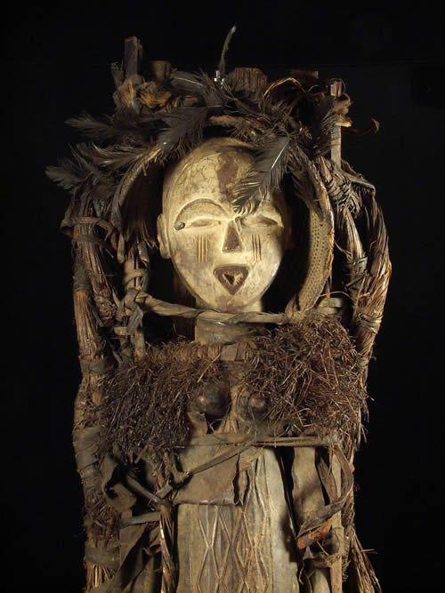 Rare Statuette accouchement - Vouvi ou Tshogho- Gabon