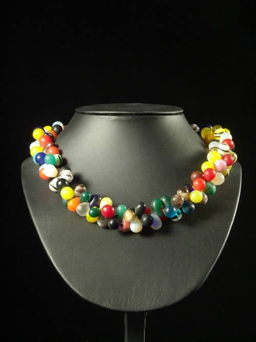 Monnaie primitive prosser perles verre - Peul / Fulani - Mali