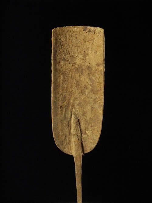 Monnaie primitive pelle en fer noir - Chamba - Cameroun / Nigeri