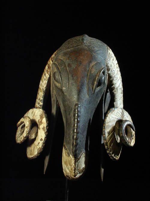 Masque Belier Baoule - Cote d'ivoire - Masques d'afrique