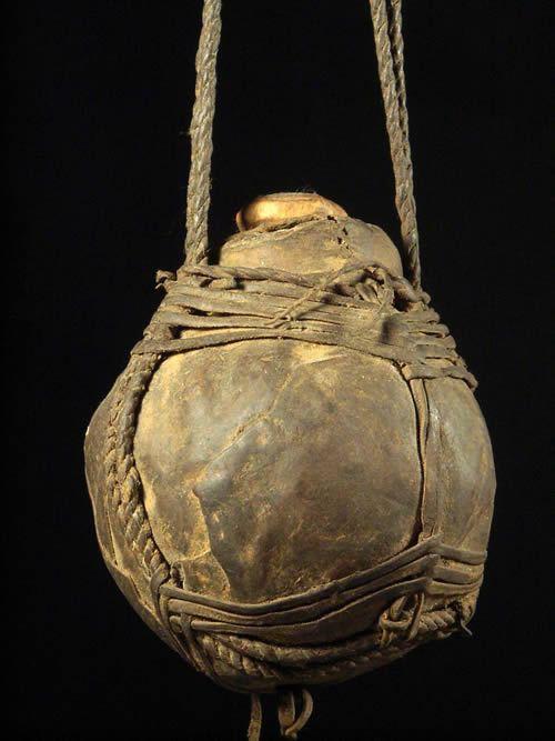Gourde en cuir - Borana - Ethiopie
