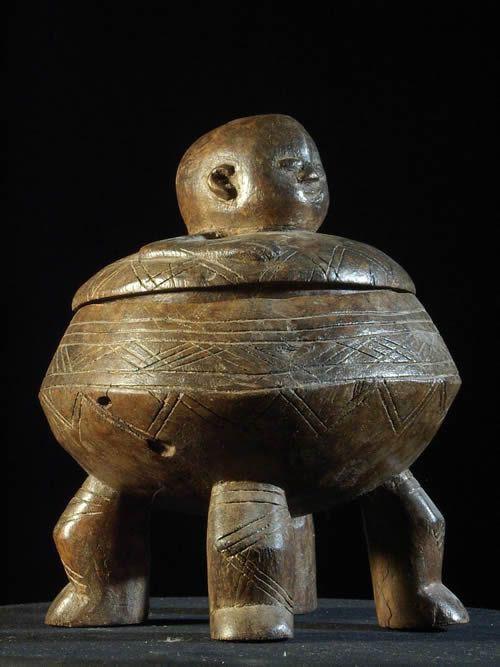 Pot en bois - Ethnie Lobi - Burkina Faso