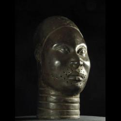 Tete Oba Bronze Ife - Bini...