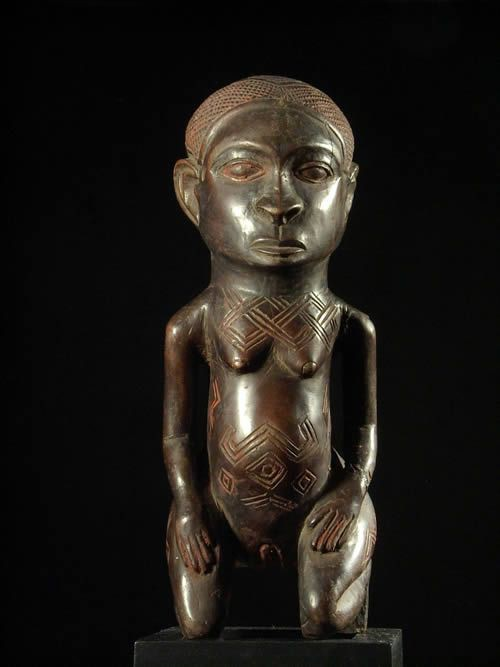 Statue Cultuelle - Kuba Shoowa - RDC Zaire - Statue africaines