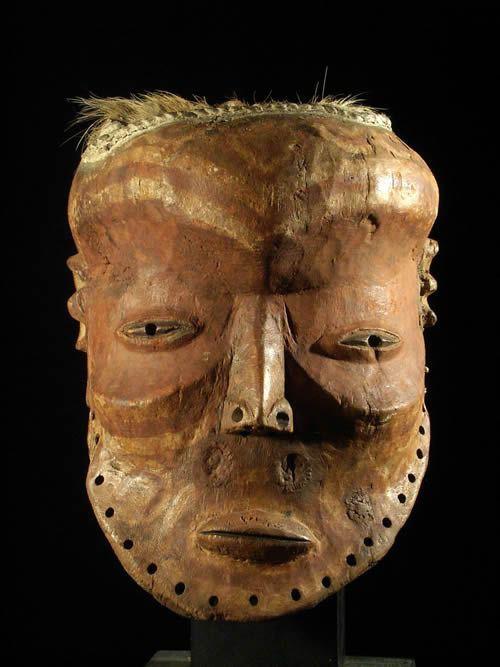 Masque ancien - Lulua / Luluwa - RDC Zaire - Masques africains